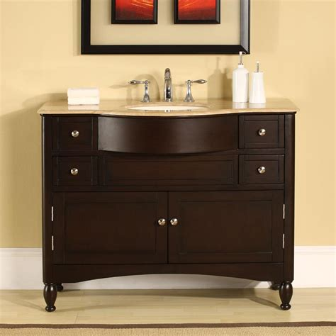 6717 t 45 45 single sink vanity travertine top cabinet