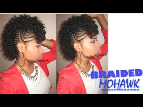 #bawse braided mohawk | natural hair tutorial youtube