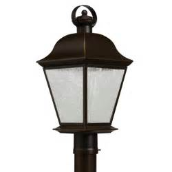 Led Light Pole Fixtures Kichler 9909ozled Mount Vernon Traditional Olde Bronze Finish 9 5 Quot Wide Led Exterior Pole