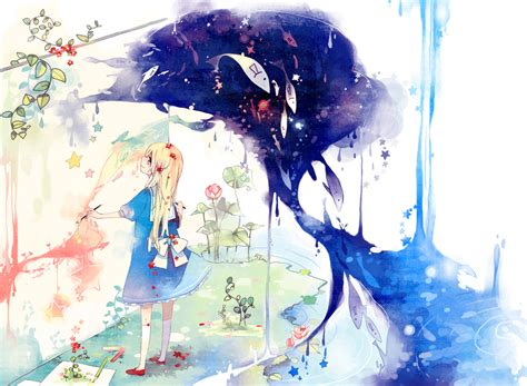anime art anime water anime girl pinterest watercolors art