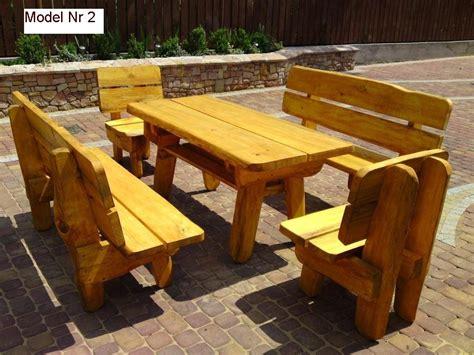 Handmade Outdoor Wood Furniture - garden wooden furniture for restaurants pubs inns 100