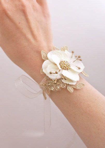 8 Pretty White Accessories by Bridal Flower Wrist Corsage Wedding Floral Bracelet Prom