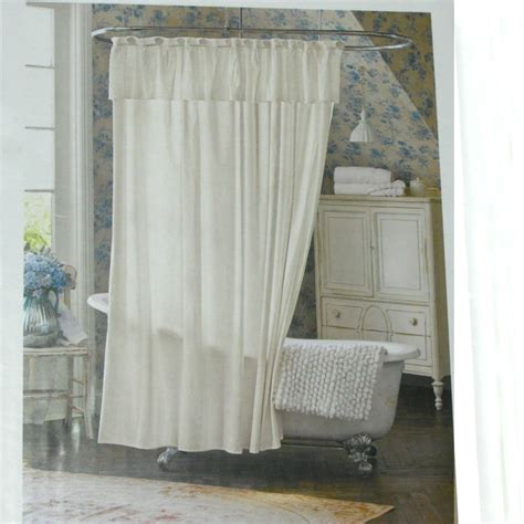 shabby chic bathroom curtains simply shabby chic lace dobby white shower curtain target