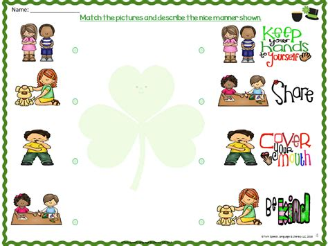 worksheets for preschoolers on manners good manners worksheets free worksheets library download