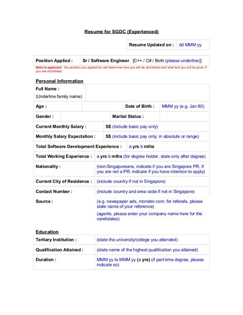 resume expectations resume ideas