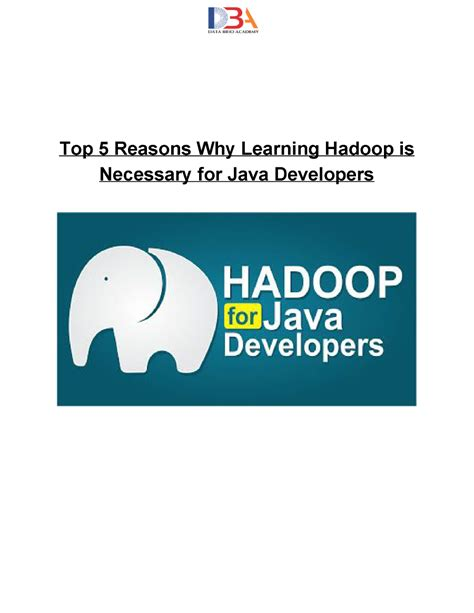 ppt templates for hadoop why learning hadoop is necessary for java developers