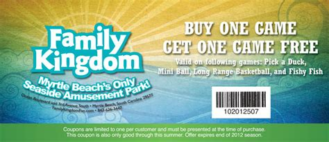 theme park coupons family kingdom coupons archives myrtle beach on the cheap