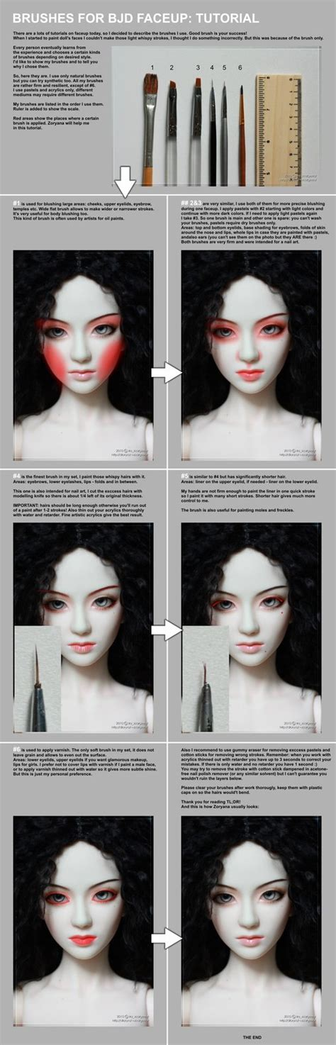 how to jointed doll paint brushes for bjd faceup tutorial by scargeear on deviantart