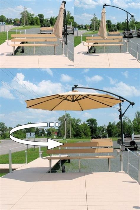 Patio Umbrella On Boat 17 Best Images About Docks On Outdoor Benches