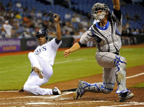 bj upton swing griffin villanueva victim of rays lightning and thunder