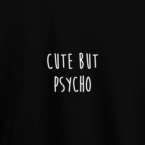 But Psycho but psycho shirt in black bittersweet