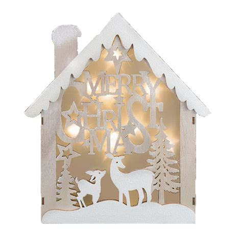 christmas cm lit house silhouette box night light merry christmas widdle gifts