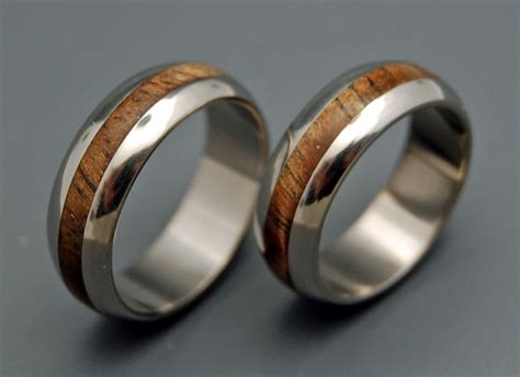 mens wooden wedding bands as alternative rings
