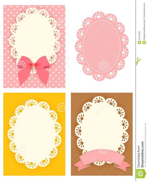 cute lace pattern vector cute lace pattern stock image image 31161931