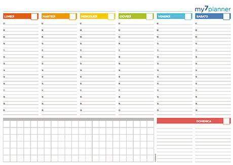 agenda da tavolo settimanale planner settimanale da stare