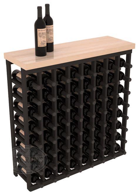 Black Wine Racks by Tasting Table Wine Rack Kit With Butcher Block Top In Pine