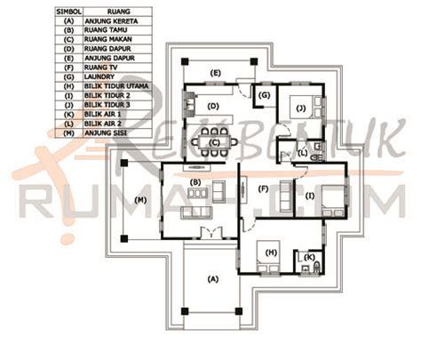 layout rumah 4 bilik design rumah c1 07 3 bilik 2 bilik air 48 x 54