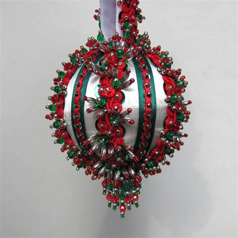 beaded ornament kits beaded ornament kit yuletide greeting