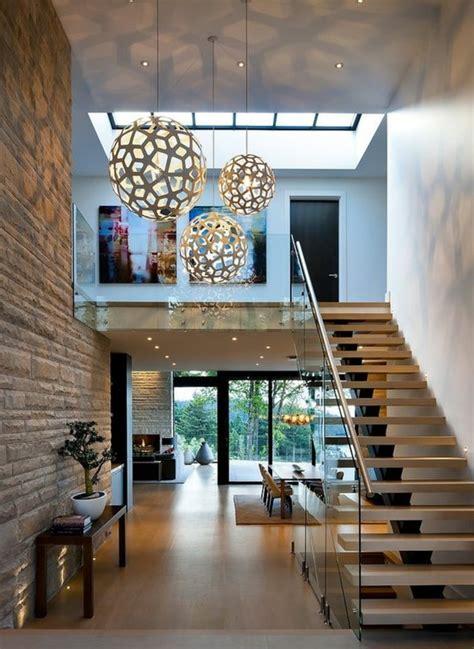 glasgeländer treppe innen design treppe