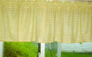 Yellow Gingham Kitchen Curtains Yellow Gingham Kitchen Caf 233 Curtain Unlined Or With White Or Blackout Lining In Many Custom