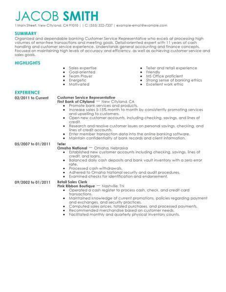 financial customer service representative resume sle best financial customer service representative resume exle livecareer