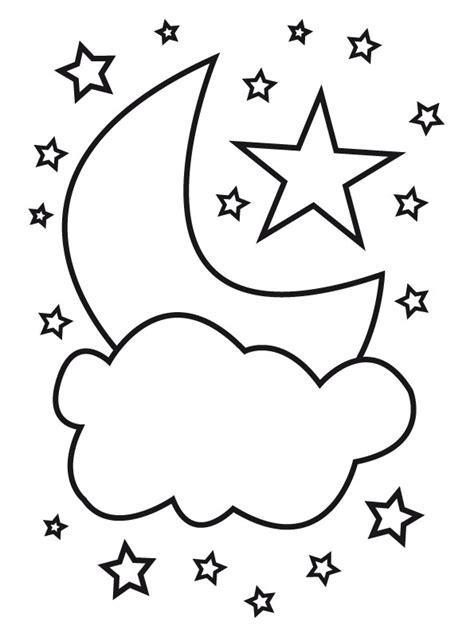 dibujo para colorear estrellas sol luna sol pinterest luna y estrellas dibujalia dibujos para colorear