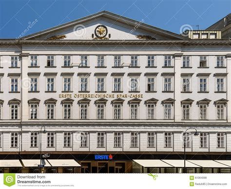 bank of vienna erste bank ag in vienna editorial stock photo