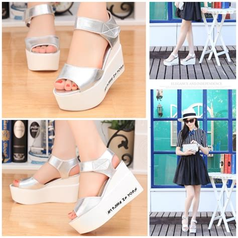 Promo Celengan Atm Silver Size Besar jual shw621 silver sepatu wedges cantik import 8cm