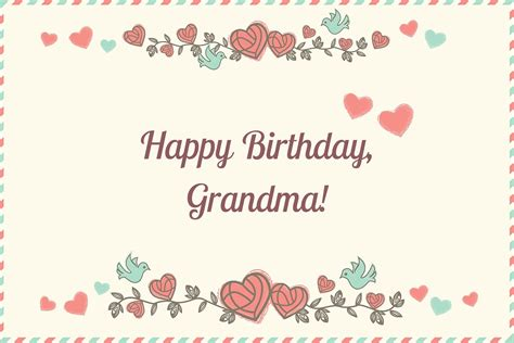 Grandmother Birthday Card Sayings Happy Birthday Grandma Birthday Cards Messages Images