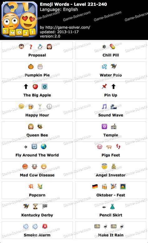 emoji word emoji words level 221 240 game solver