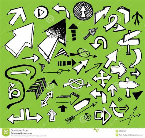 doodle jogos do jogo das setas brancas do doodle imagem de stock royalty