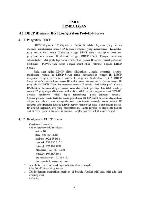 cara konfigurasi dns dan web server makalah dhcp dns dan web server