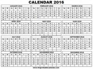2014 12 Month Calendar Template by 12 Month To 2016 Calendar Print Calendar Template 2016