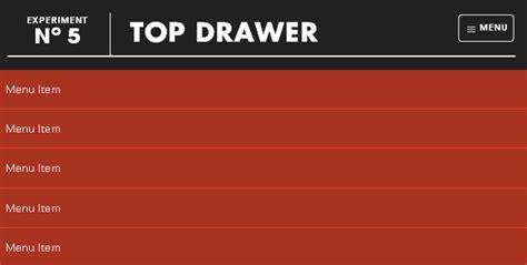 Jquery Drawer Menu by Top Drawer Jquery Dropdown Menu For Responsive Design