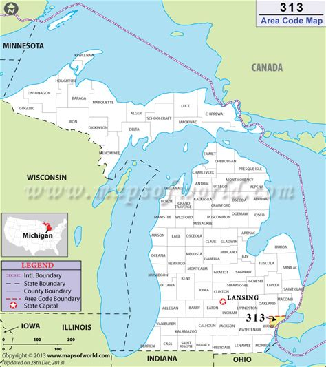 Area Code 313 Lookup 313 Area Code Map Where Is 313 Area Code In Michigan