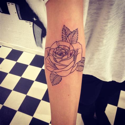 simple rose tattoo tumblr design and by me simple