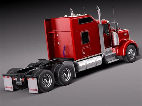 kenworth 2016 models kenworth w900 sleeper cab 2014 3d model cgstudio