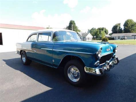 55 Chevy Bel Air Gasser Hitam 1955 chevrolet gasser rod 55 chevy bel air