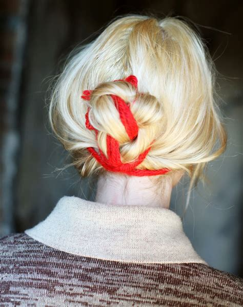 how to tie yarn into hair how to tie a yarn messy bun hair inspiration a