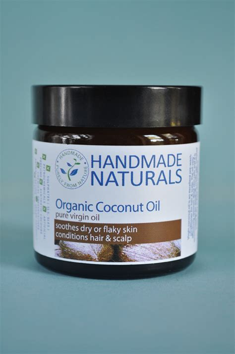 Handmade Naturals - organic coconut for cradle cap skin