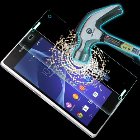 Tempered Glass Anti Gores Kaca Sony Z3 Big 1 2 pcs front tempered glass screen protector for sony xperia z3 d6603 d6653 9h 0 26mm anti