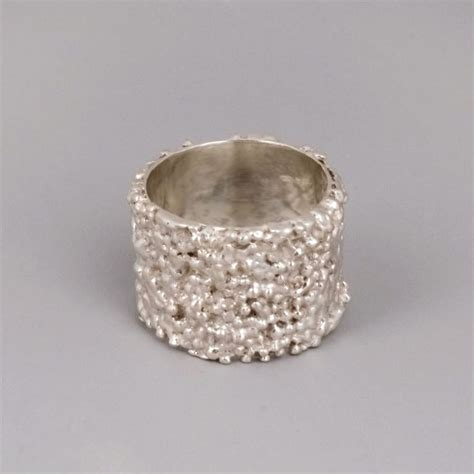 wide silver band ring sterling silver wide ring
