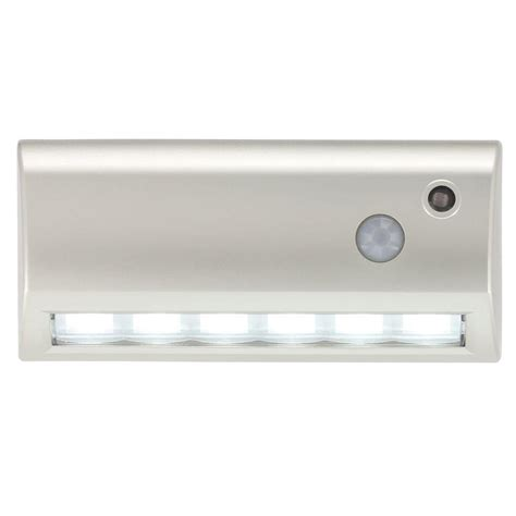 motion activated stair lights light it 6 in silver wireless motion activated led