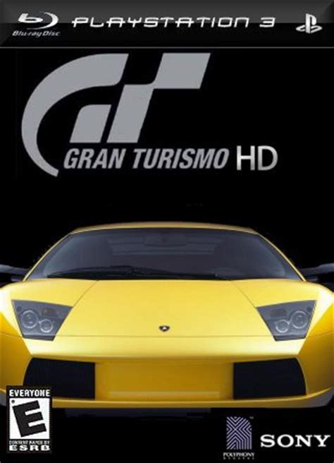 gran turismo hd playstation 3 box art cover by cmt