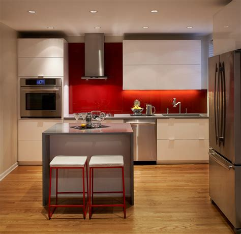 modern apartment kitchen modern kitchen chicago by