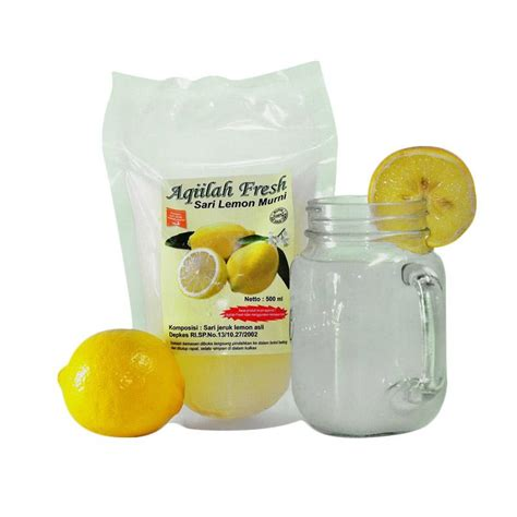jual aqiilah fresh sari lemon murni minuman herbal 500 ml
