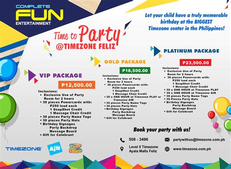 kids birthday party venue timezone philippines