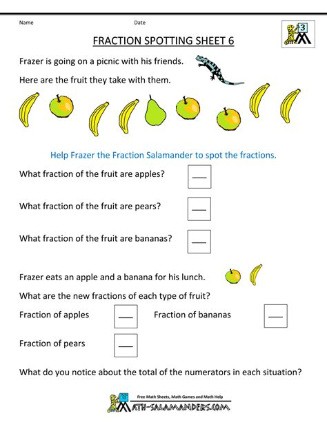 printable math worksheets on fractions for free free christmas fractions worksheets new calendar