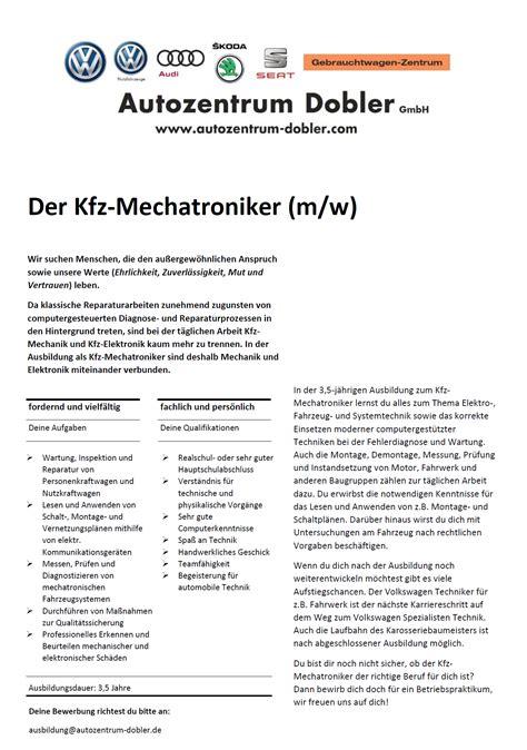Audi De Bewerbung by Autozentrum Dobler Gmbh M 252 Hlacker Karriere Ihr