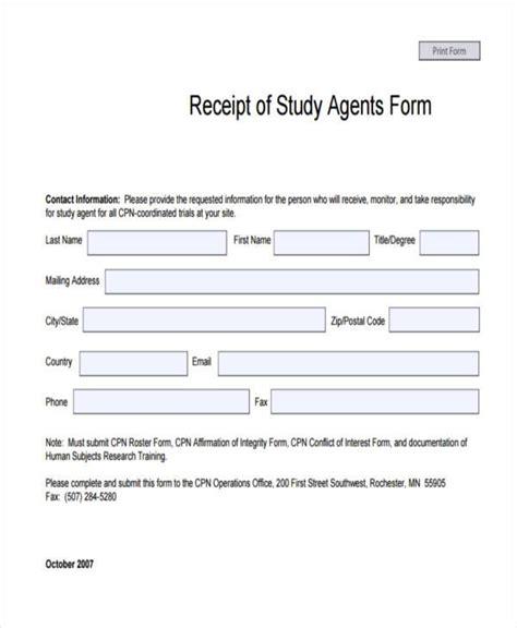 Survey On Receipt Template by Receipt Form In Pdf